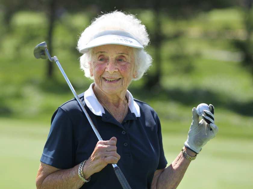 Oude golfer